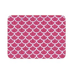 Scales1 White Marble & Pink Denim Double Sided Flano Blanket (mini)