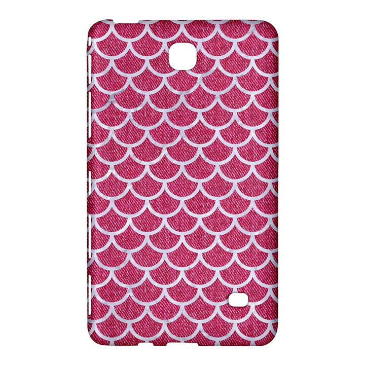 SCALES1 WHITE MARBLE & PINK DENIM Samsung Galaxy Tab 4 (7 ) Hardshell Case