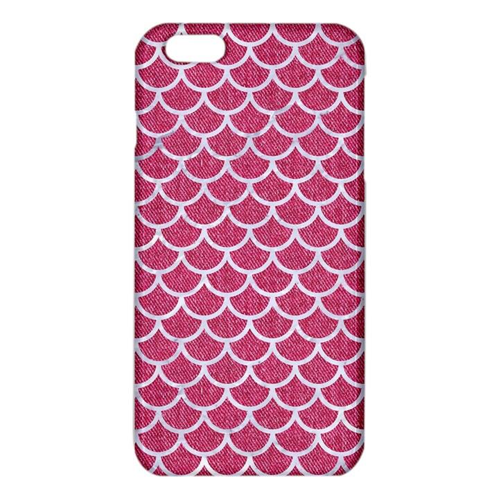 SCALES1 WHITE MARBLE & PINK DENIM iPhone 6 Plus/6S Plus TPU Case
