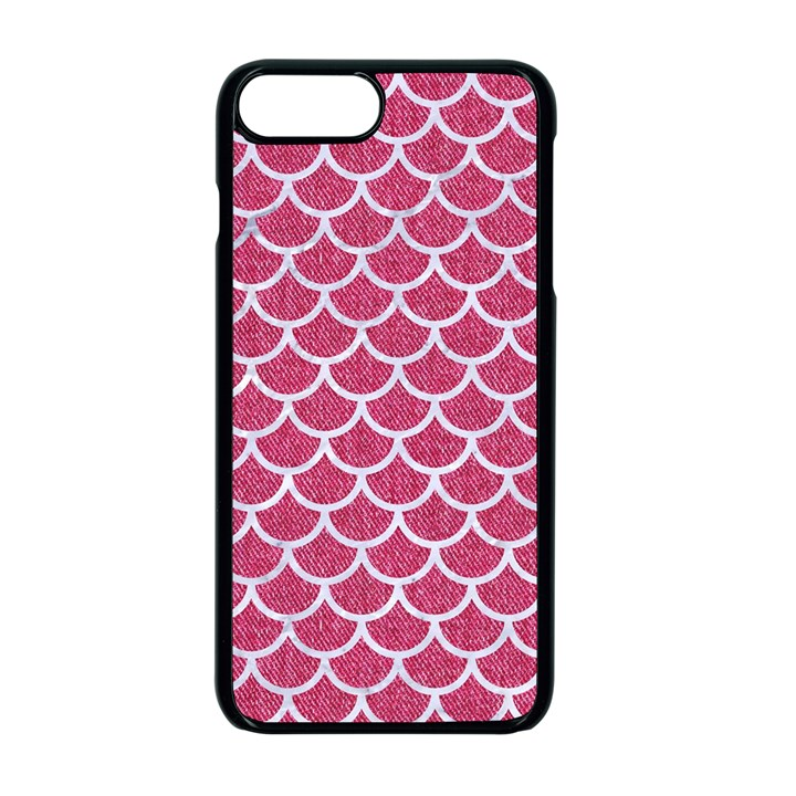 SCALES1 WHITE MARBLE & PINK DENIM Apple iPhone 7 Plus Seamless Case (Black)