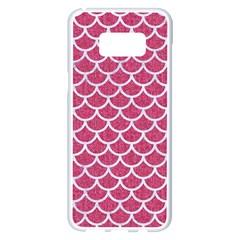 Scales1 White Marble & Pink Denim Samsung Galaxy S8 Plus White Seamless Case