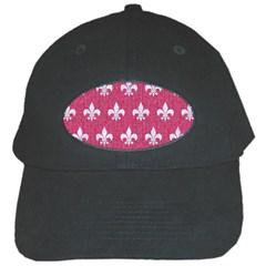 Royal1 White Marble & Pink Denim (r) Black Cap