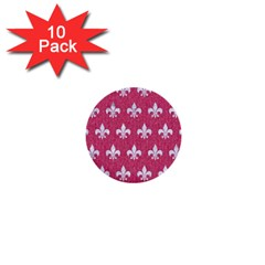 ROYAL1 WHITE MARBLE & PINK DENIM (R) 1  Mini Buttons (10 pack)