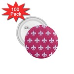ROYAL1 WHITE MARBLE & PINK DENIM (R) 1.75  Buttons (100 pack)  Front