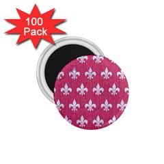 ROYAL1 WHITE MARBLE & PINK DENIM (R) 1.75  Magnets (100 pack)