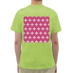 ROYAL1 WHITE MARBLE & PINK DENIM (R) Green T-Shirt Back