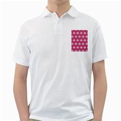 ROYAL1 WHITE MARBLE & PINK DENIM (R) Golf Shirts