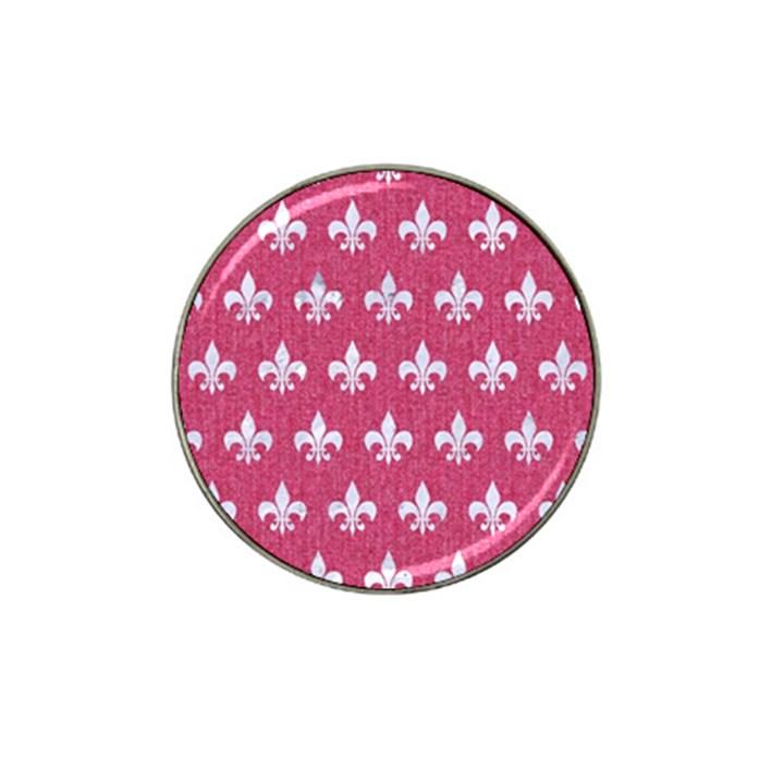 ROYAL1 WHITE MARBLE & PINK DENIM (R) Hat Clip Ball Marker (4 pack)