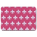 ROYAL1 WHITE MARBLE & PINK DENIM (R) Large Doormat  30 x20 Door Mat - 1