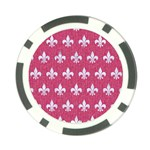 ROYAL1 WHITE MARBLE & PINK DENIM (R) Poker Chip Card Guard Front