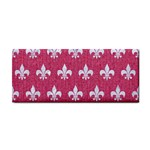 ROYAL1 WHITE MARBLE & PINK DENIM (R) Hand Towel Front