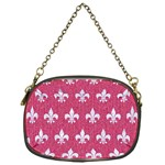 ROYAL1 WHITE MARBLE & PINK DENIM (R) Chain Purses (One Side)  Front