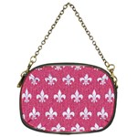 ROYAL1 WHITE MARBLE & PINK DENIM (R) Chain Purses (Two Sides)  Front