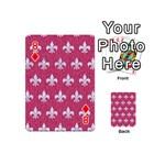 ROYAL1 WHITE MARBLE & PINK DENIM (R) Playing Cards 54 (Mini)  Front - Diamond8