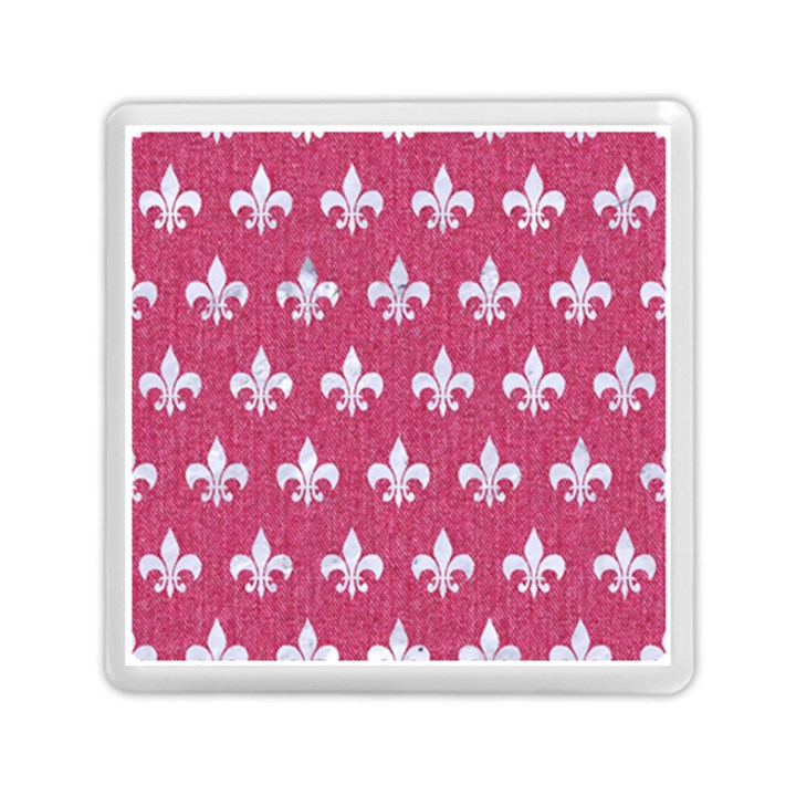 ROYAL1 WHITE MARBLE & PINK DENIM (R) Memory Card Reader (Square)