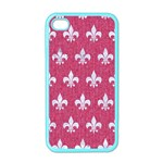 ROYAL1 WHITE MARBLE & PINK DENIM (R) Apple iPhone 4 Case (Color) Front
