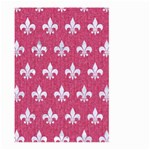 ROYAL1 WHITE MARBLE & PINK DENIM (R) Large Garden Flag (Two Sides) Back