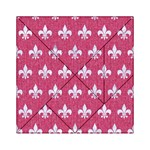 ROYAL1 WHITE MARBLE & PINK DENIM (R) Acrylic Tangram Puzzle (6  x 6 ) Front