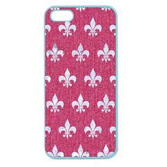 Royal1 White Marble & Pink Denim (r) Apple Seamless Iphone 5 Case (color)
