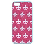 ROYAL1 WHITE MARBLE & PINK DENIM (R) Apple Seamless iPhone 5 Case (Color) Front