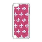 ROYAL1 WHITE MARBLE & PINK DENIM (R) Apple iPod Touch 5 Case (White) Front