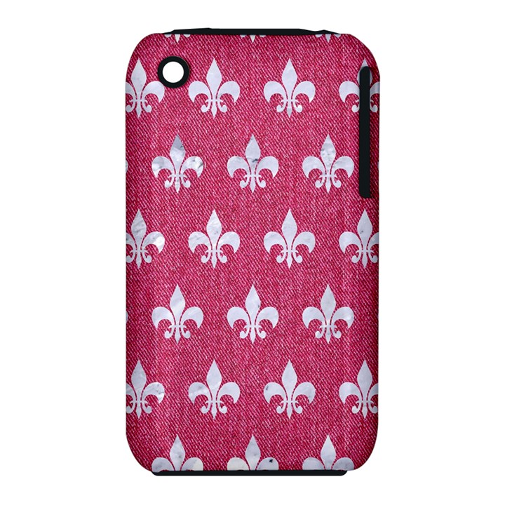 ROYAL1 WHITE MARBLE & PINK DENIM (R) iPhone 3S/3GS