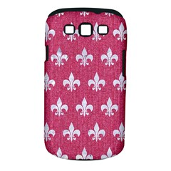 ROYAL1 WHITE MARBLE & PINK DENIM (R) Samsung Galaxy S III Classic Hardshell Case (PC+Silicone)