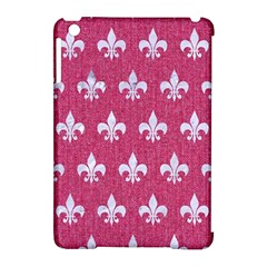 ROYAL1 WHITE MARBLE & PINK DENIM (R) Apple iPad Mini Hardshell Case (Compatible with Smart Cover)
