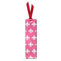 Royal1 White Marble & Pink Denim (r) Small Book Marks