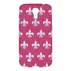 Royal1 White Marble & Pink Denim (r) Samsung Galaxy S4 I9500/i9505 Hardshell Case by trendistuff