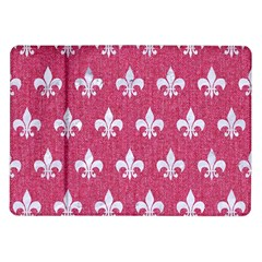 Royal1 White Marble & Pink Denim (r) Samsung Galaxy Tab 10 1  P7500 Flip Case by trendistuff
