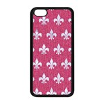 ROYAL1 WHITE MARBLE & PINK DENIM (R) Apple iPhone 5C Seamless Case (Black) Front