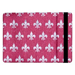 Royal1 White Marble & Pink Denim (r) Samsung Galaxy Tab Pro 12 2  Flip Case