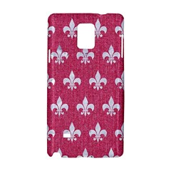 Royal1 White Marble & Pink Denim (r) Samsung Galaxy Note 4 Hardshell Case