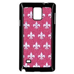 Royal1 White Marble & Pink Denim (r) Samsung Galaxy Note 4 Case (black)