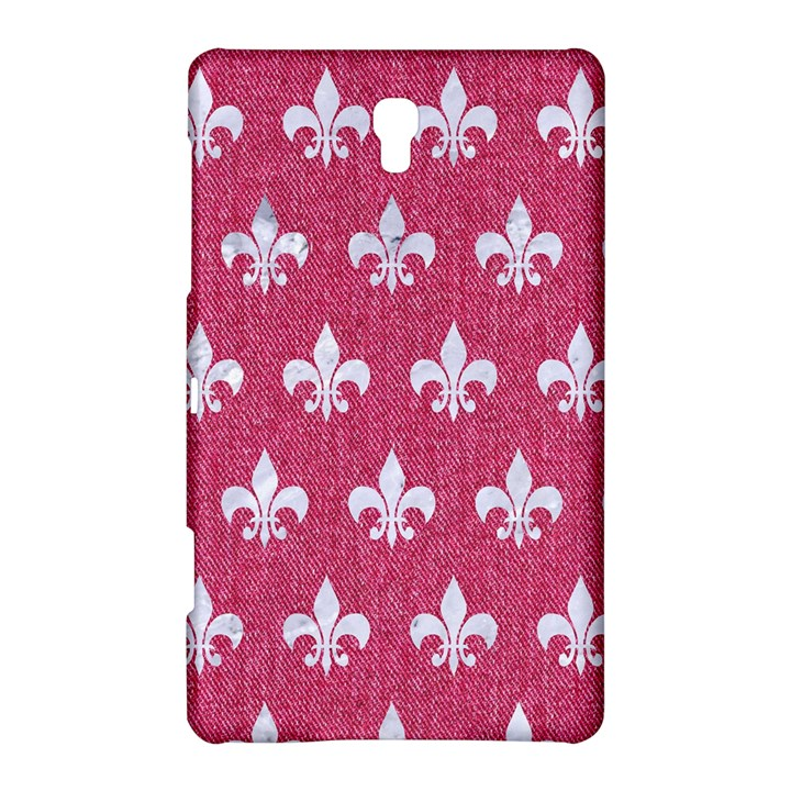 ROYAL1 WHITE MARBLE & PINK DENIM (R) Samsung Galaxy Tab S (8.4 ) Hardshell Case