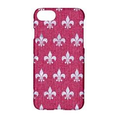 Royal1 White Marble & Pink Denim (r) Apple Iphone 8 Hardshell Case