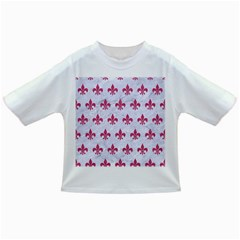 ROYAL1 WHITE MARBLE & PINK DENIM Infant/Toddler T-Shirts