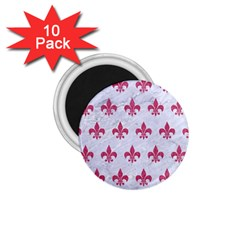 ROYAL1 WHITE MARBLE & PINK DENIM 1.75  Magnets (10 pack)