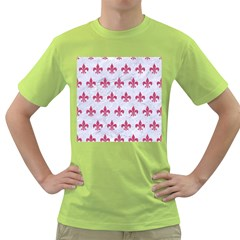 ROYAL1 WHITE MARBLE & PINK DENIM Green T-Shirt