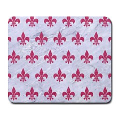 ROYAL1 WHITE MARBLE & PINK DENIM Large Mousepads