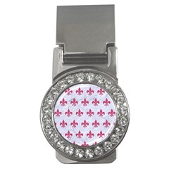 ROYAL1 WHITE MARBLE & PINK DENIM Money Clips (CZ)