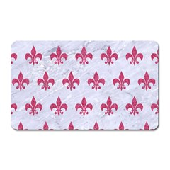 ROYAL1 WHITE MARBLE & PINK DENIM Magnet (Rectangular)
