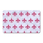 ROYAL1 WHITE MARBLE & PINK DENIM Magnet (Rectangular) Front