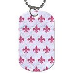 ROYAL1 WHITE MARBLE & PINK DENIM Dog Tag (One Side) Front