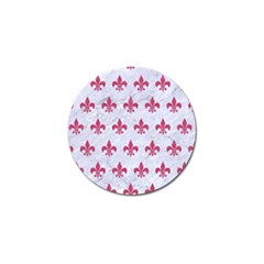 ROYAL1 WHITE MARBLE & PINK DENIM Golf Ball Marker