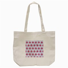 ROYAL1 WHITE MARBLE & PINK DENIM Tote Bag (Cream)