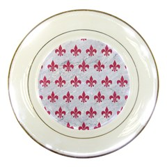 ROYAL1 WHITE MARBLE & PINK DENIM Porcelain Plates