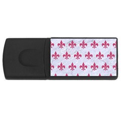 ROYAL1 WHITE MARBLE & PINK DENIM Rectangular USB Flash Drive