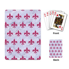 ROYAL1 WHITE MARBLE & PINK DENIM Playing Card